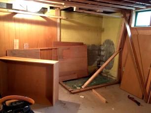 basement corner during 3