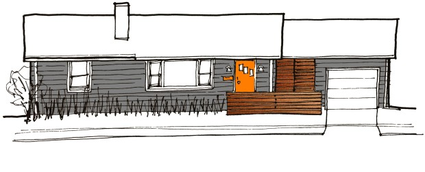 front elevation sketch_color