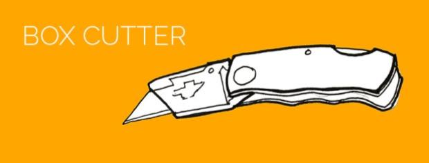 demolition tools: box cutter