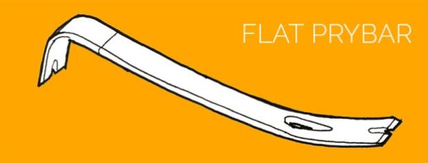demolition tools: flat prybar