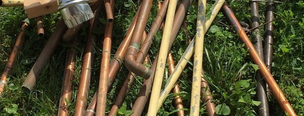 old pipes header
