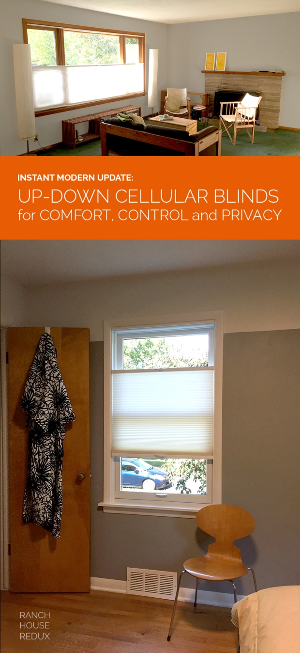 Modern Update with Cellular Shades: Add instant insulation, privacy, and modern visuals with top down, bottom-up cellular shades.