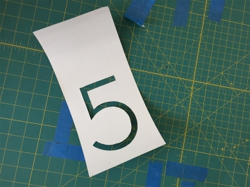 number cut out