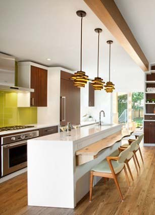 midcentury style updated kitchen